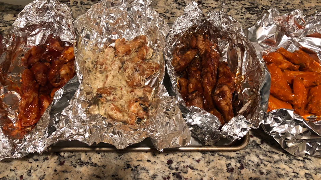 The wing spread